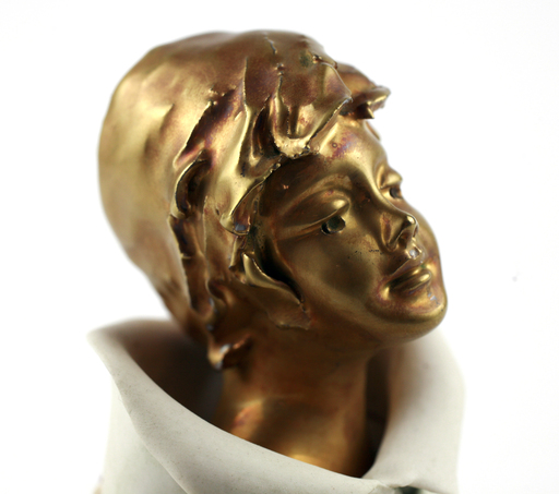 Gianni VISENTIN - Ceramiche - Sculpture Gold 18K Plated- Limited Edition - Certification