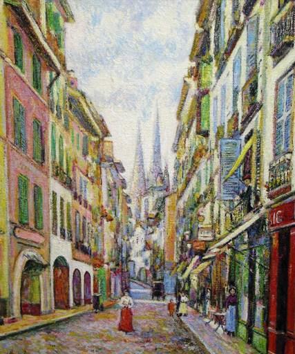 Hugues Claude PISSARRO - Gemälde - LA Rue de la Boule