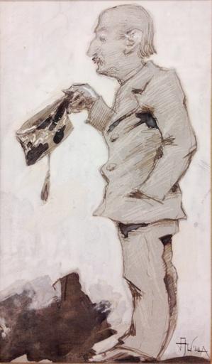 Aleardo VILLA - Drawing-Watercolor - Cronaca mondana