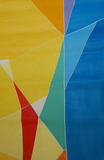 Lorena ULPIANI - Painting - Orizzonti - Tribute to Licini - geometric