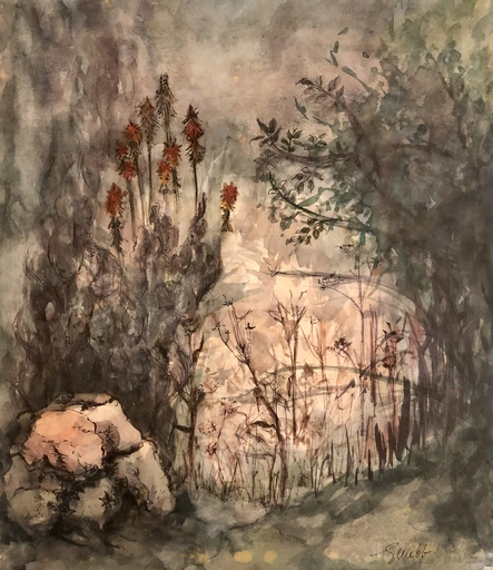 Gillian WEBB - Zeichnung Aquarell - Paysage