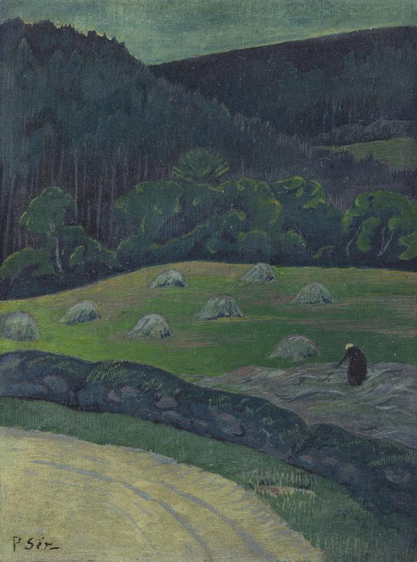Paul SÉRUSIER - Painting - Paysanne au champ