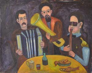 Oleg GRUNZOVSKY - Pintura - Hangover