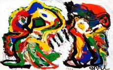 Karel APPEL - Painting - Angry together