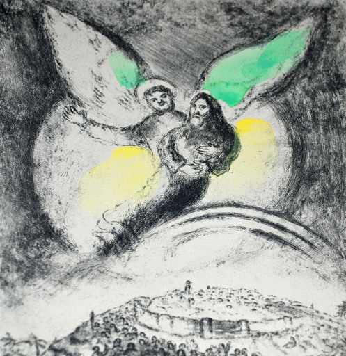 Marc CHAGALL - Grabado - God Will Have Pity on Jacob