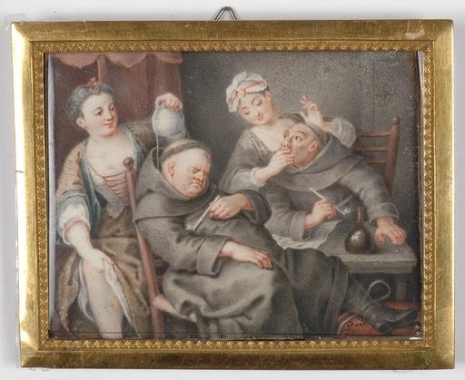 """Karl-Gustav KLINGSTEDT - Peinture - """"Monks and Girls"""""""
