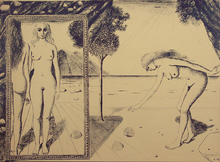 Paul DELVAUX - Estampe-Multiple - The Beach