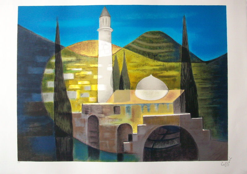 Louis TOFFOLI - 版画 - Jérusalem