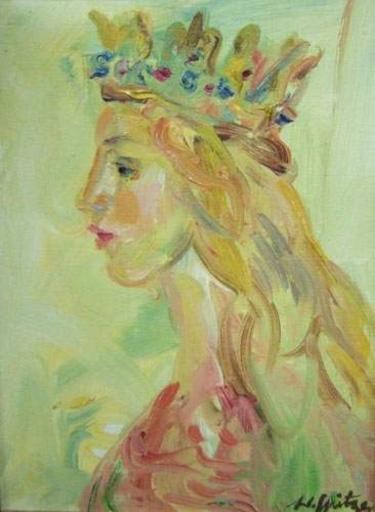 Walter SPITZER - Peinture - Queen Ester (La Reine)