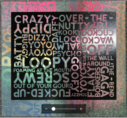 Mel BOCHNER - Print-Multiple - Crazy (with Background Noise)