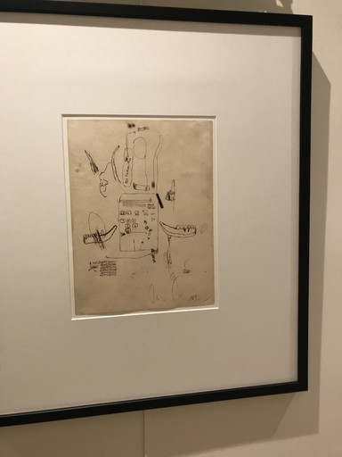 Jean-Michel BASQUIAT - Disegno Acquarello - Untitled (Louis Armstrong)