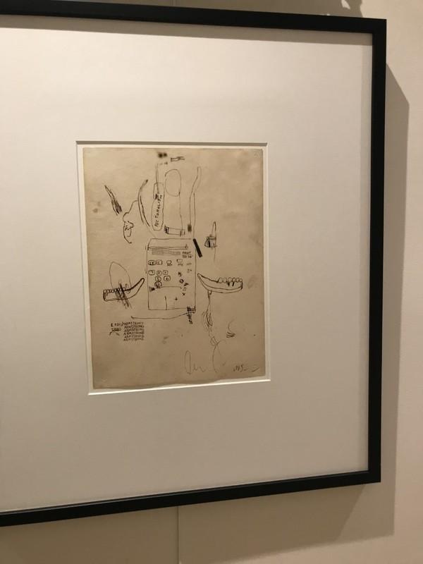 Jean-Michel BASQUIAT - Disegno Acquarello - Untitled (Louis Armstrong)