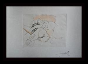 Salvador DALI - Grabado - Le Repos du Guerrier