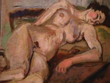 Isaac DOBRINSKY - Pintura - Nu à la chaise