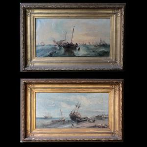 André FONECHE - Painting - Paire de marine