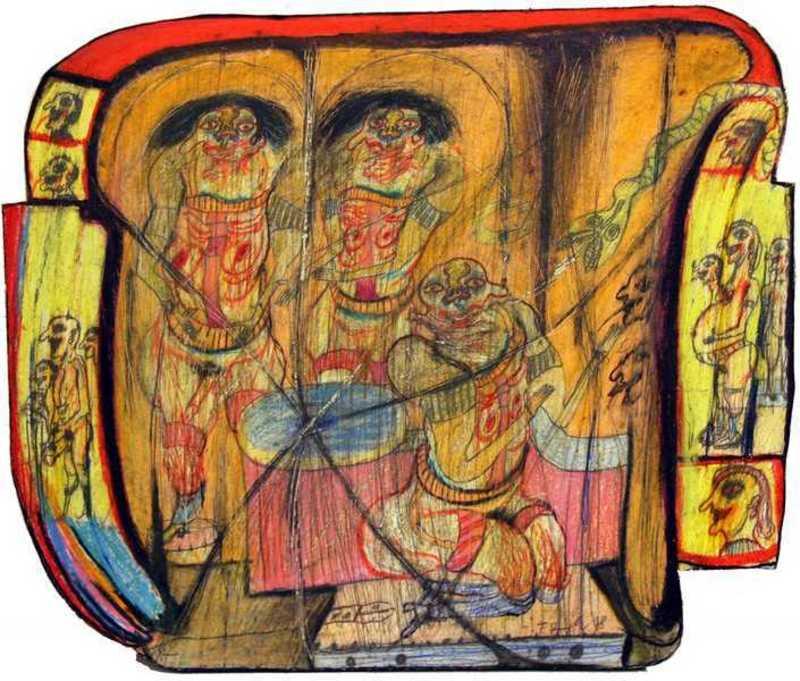 Franz RINGEL - Painting - Eine Meinung