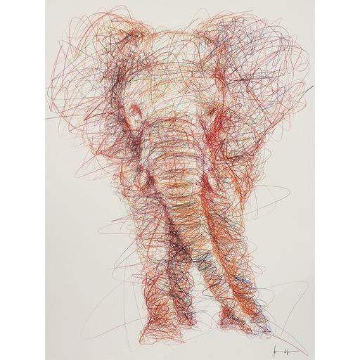 Hom NGUYEN - Dibujo Acuarela - Elephant