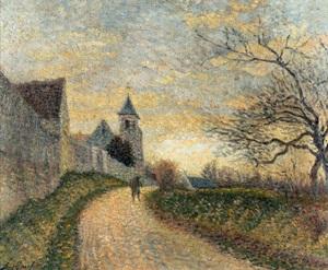 Léo GAUSSON - Peinture - L'église de Conches-sur-Gondoire
