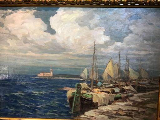 Francesco SARTORELLI - Peinture - Il porto di Caorle