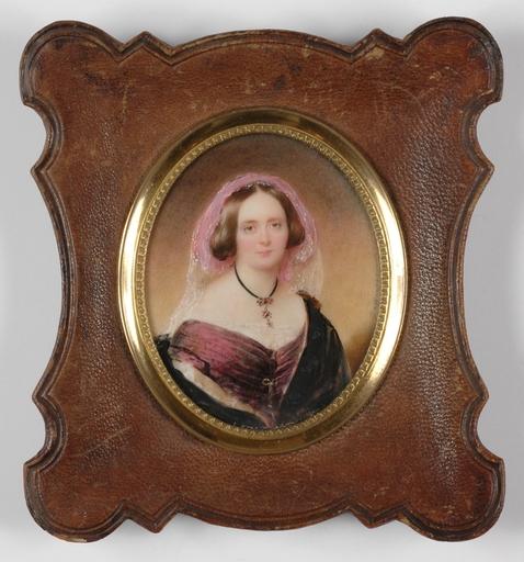 "Moritz Michael DAFFINGER - Dessin-Aquarelle - ""Baroness von Honrien"" Important Miniature! 1840's"