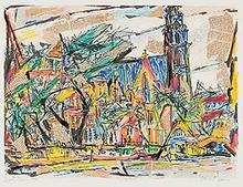 Marcel JANCO - Drawing-Watercolor - Amsterdam
