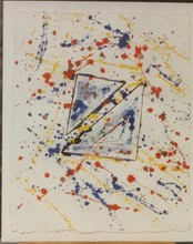 Sam FRANCIS - Dibujo Acuarela - In and Out Of- Original