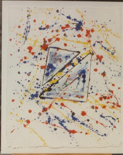 Sam FRANCIS - Drawing-Watercolor - In and Out Of- Original