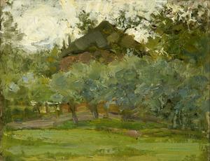 Piet MONDRIAAN, Haystack hehind a row of willows