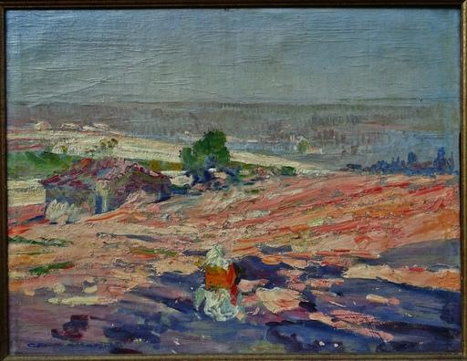 Henri CAYON - Pittura - Solitude à Chateauneuf en Charente