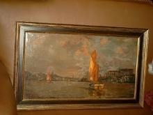 Carl BECKER - Painting - Fischkutter beim Einlaufen in den Hamburger Hafen