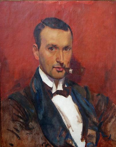 Pieter VAN DER HEM - Painting - Portret of Frans Hogerwaard  (1882-1921)