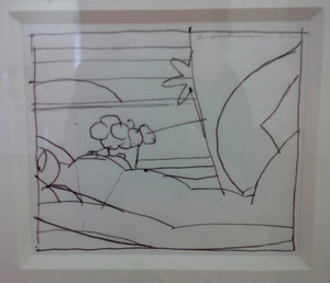 Tom WESSELMANN, DRAWING FOR SUNSET NUDE (VARIATION #4)