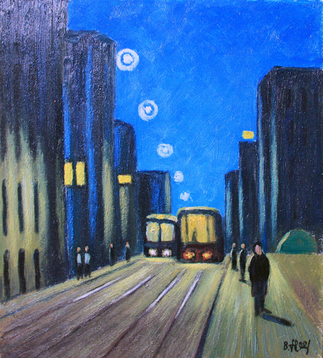 Valeriy NESTEROV - Painting - Bakuninskaya Street. Moscow