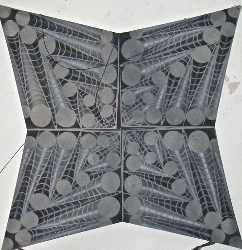 Francisco TOLEDO - 绘画 - Geometric spider web kite