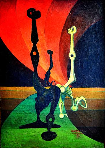 Andrea RACCAGNI - Gemälde - AUTOMI-LA GRANDE CONTESTAZIONE-