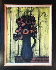Bernard BUFFET - Peinture - Anemones