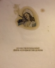 """Gérald PANIGHI - Dessin-Aquarelle - """"L'insecte intelligent pique à l'endroit de la veine"""""""