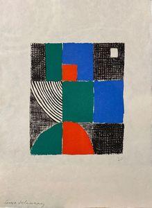 "Sonia DELAUNAY-TERK - Print-Multiple - ""Juste Présent"" de Tristan Tzara"