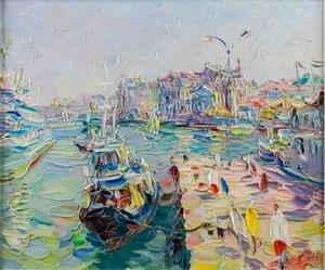 Olga Mikhailovna DUSHECHKINA - Painting - Morning in Sevastopol