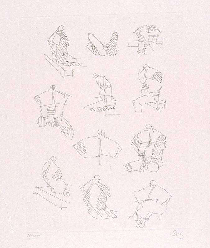 Gustav SEITZ - Estampe-Multiple - Elf Catcher-Studien
