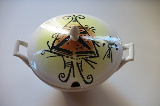 "Wifredo LAM - Ceramic - Porcelana di Albisola - 9"" plate II"