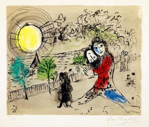 Marc CHAGALL - Print-Multiple - The Yellow Sun