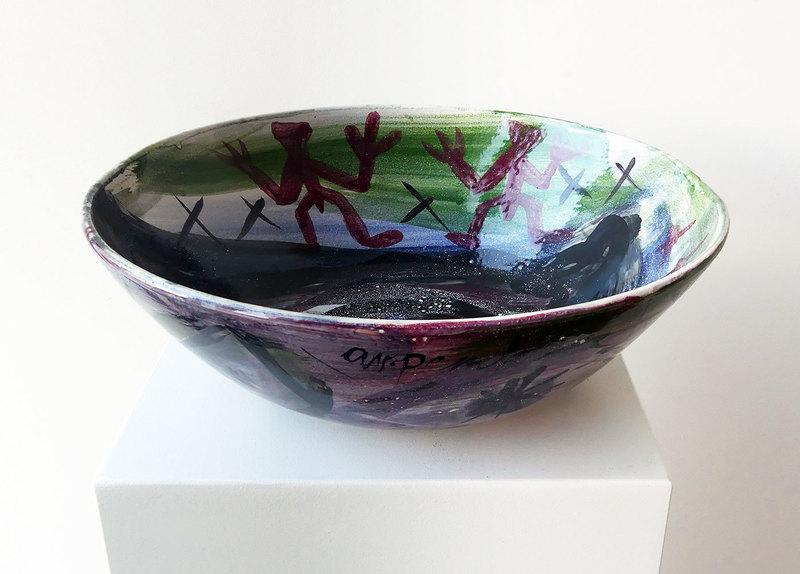 A.R. PENCK - Ceramic - Weltenschale