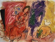 马克•夏加尔 - 版画 - Motherhood | Maternité