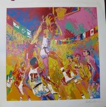 LeRoy NEIMAN - Grabado - *Basketball 1972