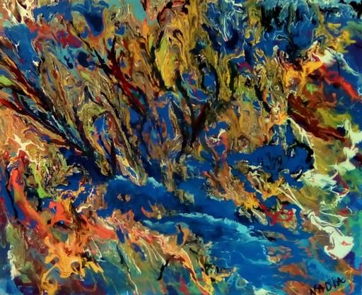 NADIA - Peinture - Le lagon bleu