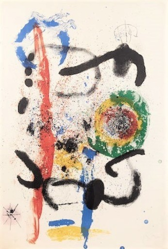 Joan MIRO - Estampe-Multiple - The Cascade