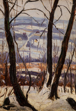 Leon Schulman GASPARD - Painting - Winter Landscape