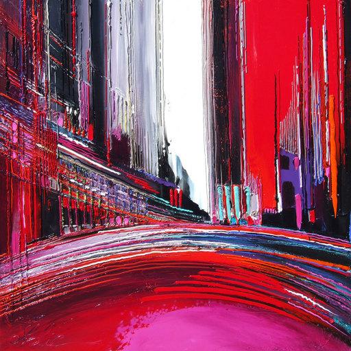 Leslie BERTHET LAVAL - Painting - Cité Marine IV