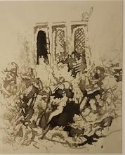 Pierre BONNARD - Dibujo Acuarela - LA FÊTE